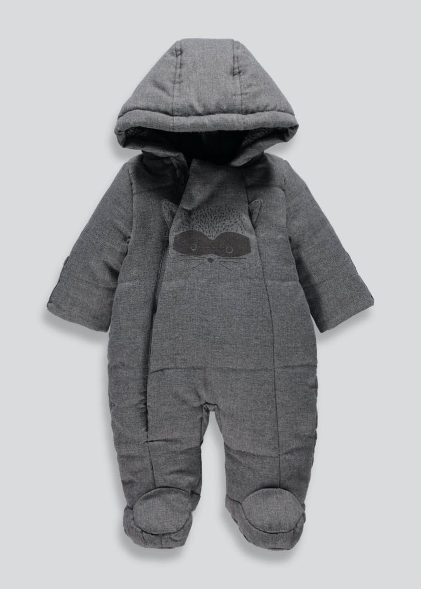 Unisex Raccoon Snowsuit (Tiny Baby-18mths)