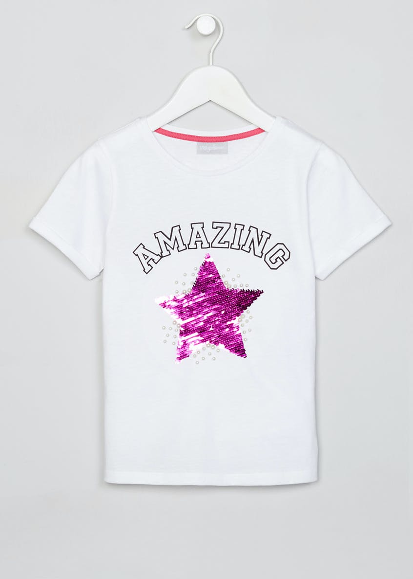 Girls Star Reversible Sequin T-Shirt (4-13yrs)