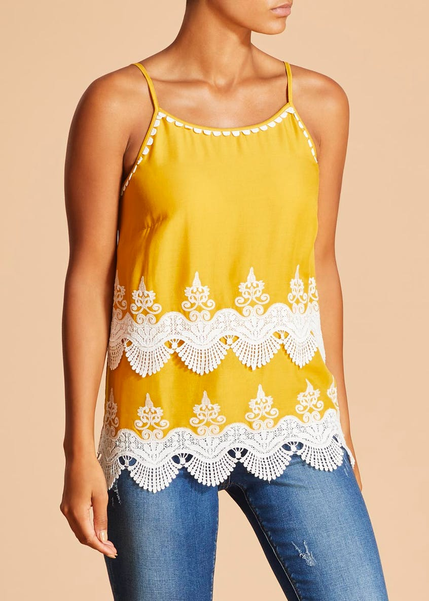Falmer Schiffley Lace Cami Top