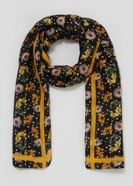 Bright Floral Scarf