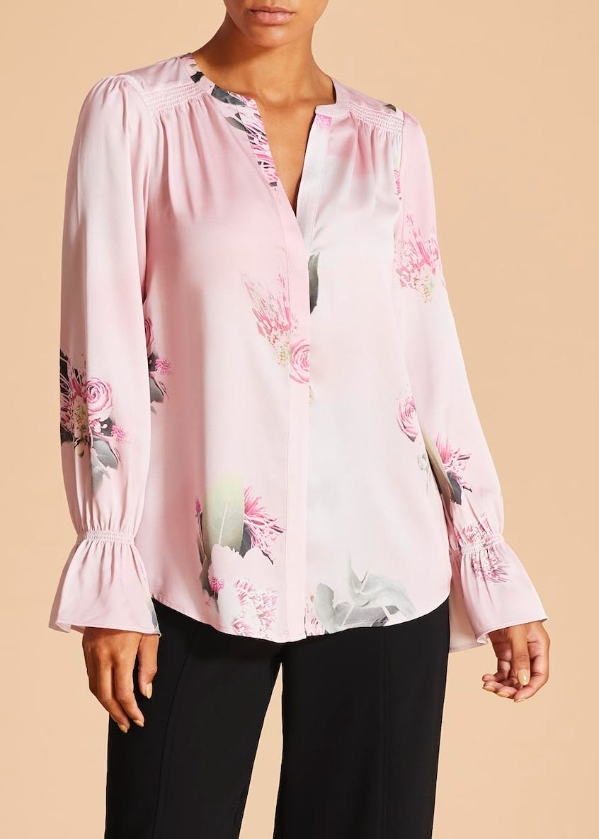 FWM Floral Collarless Blouse