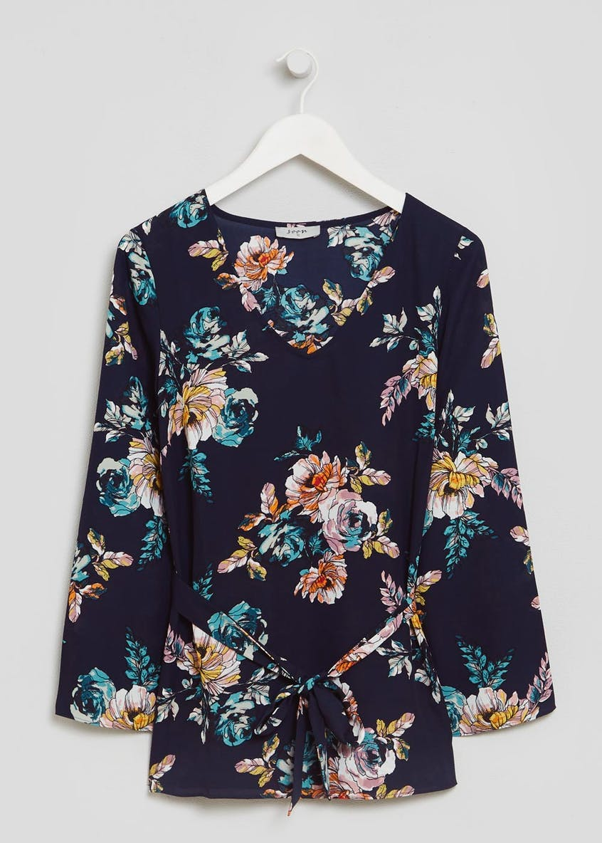 Soon Floral Belted Blouse
