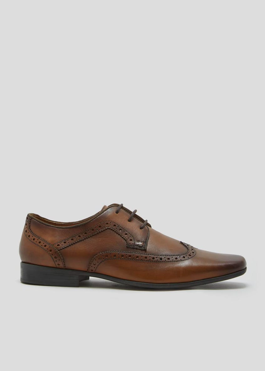 Real Leather Wingcap Brogues
