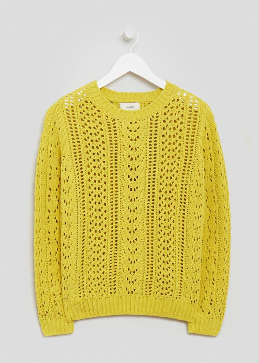 Chenille Pointelle Jumper