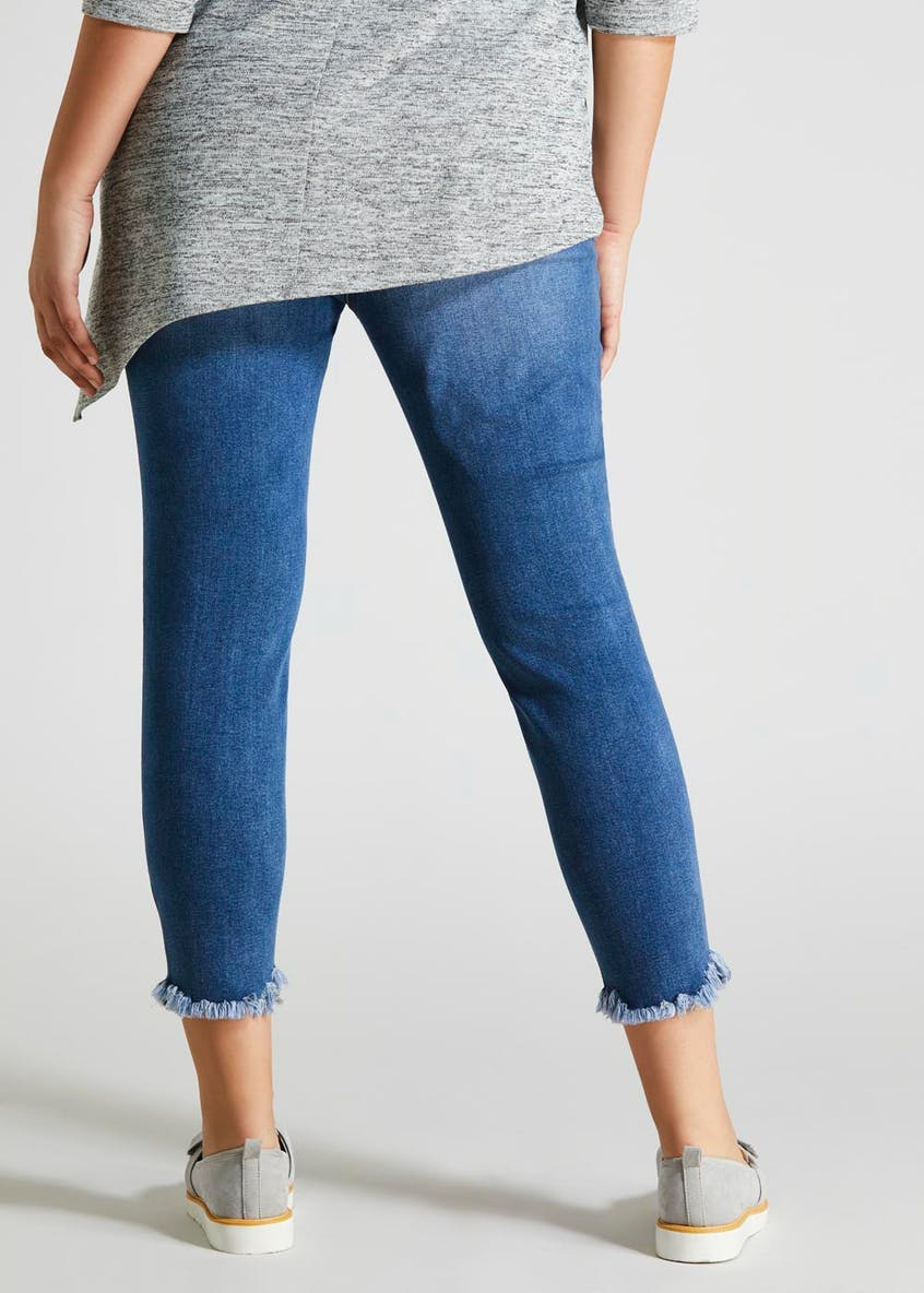 Papaya Curve Distressed Cropped Jeans