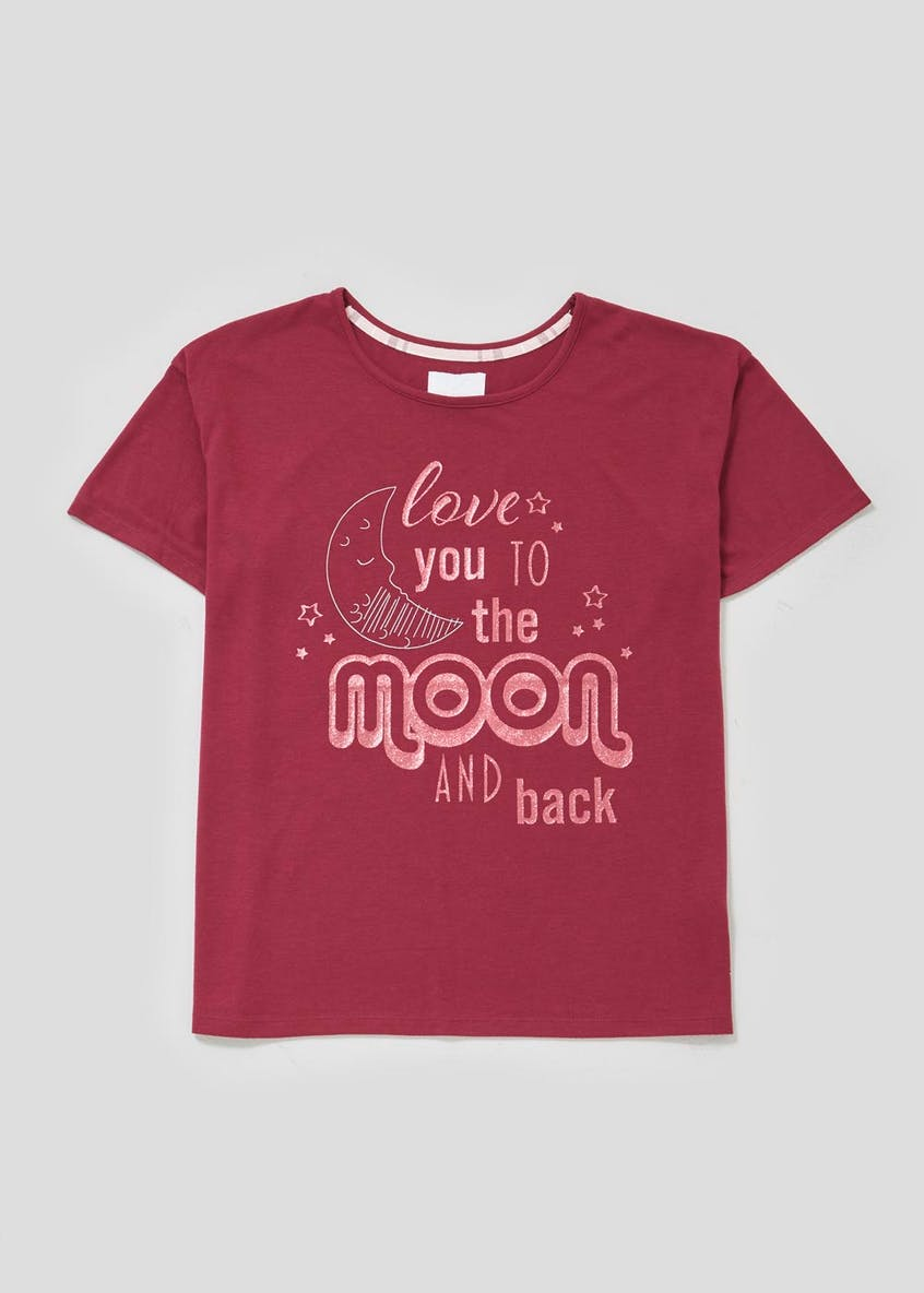 Mix & Match Moon & Back Slogan Pyjama Top