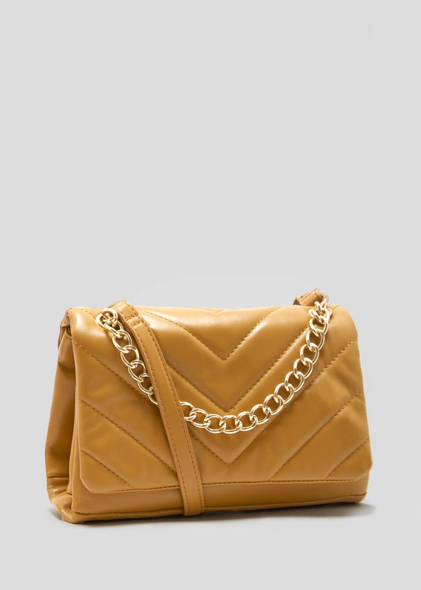 Chevron Quilted Chain Bag