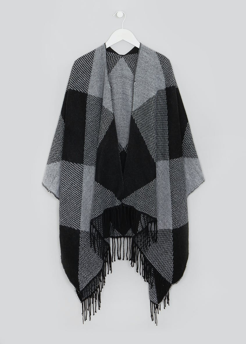 Herringbone Check Shawl