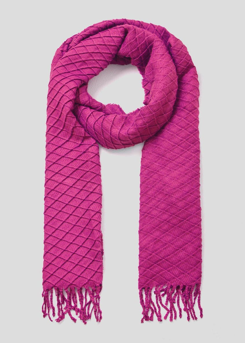 Embossed Pleat Scarf