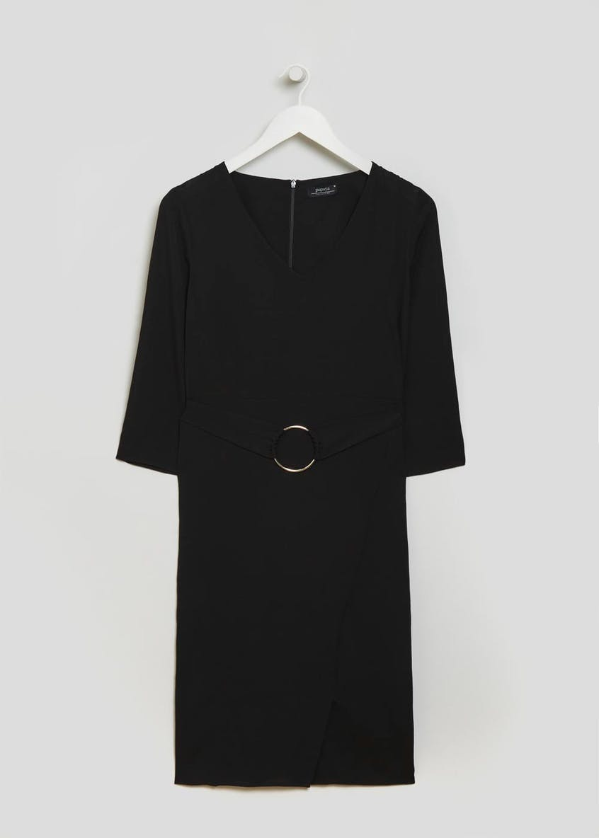 Ring Detail Dress - Black