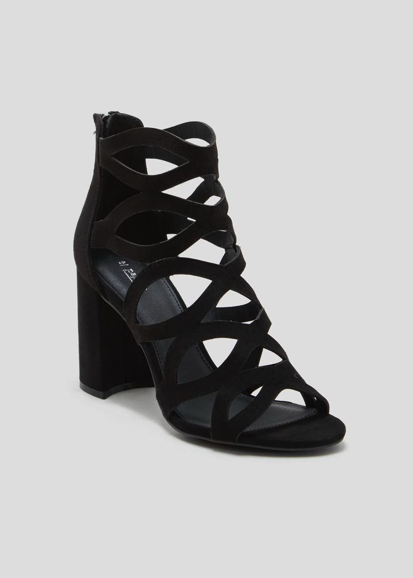 Caged Block Heels