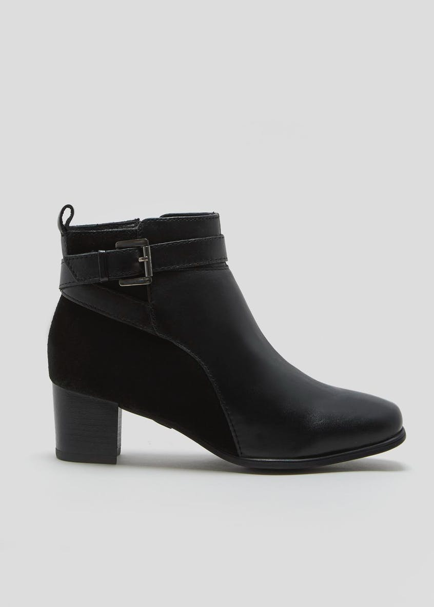 Soleflex Real Leather Square Toe Ankle Boots