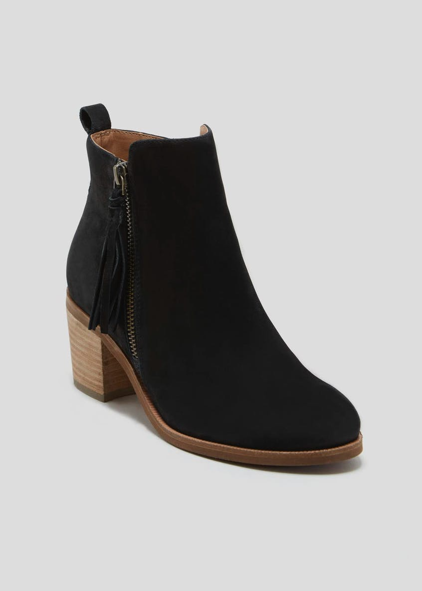 Soleflex Real Suede Tassel Ankle Boots