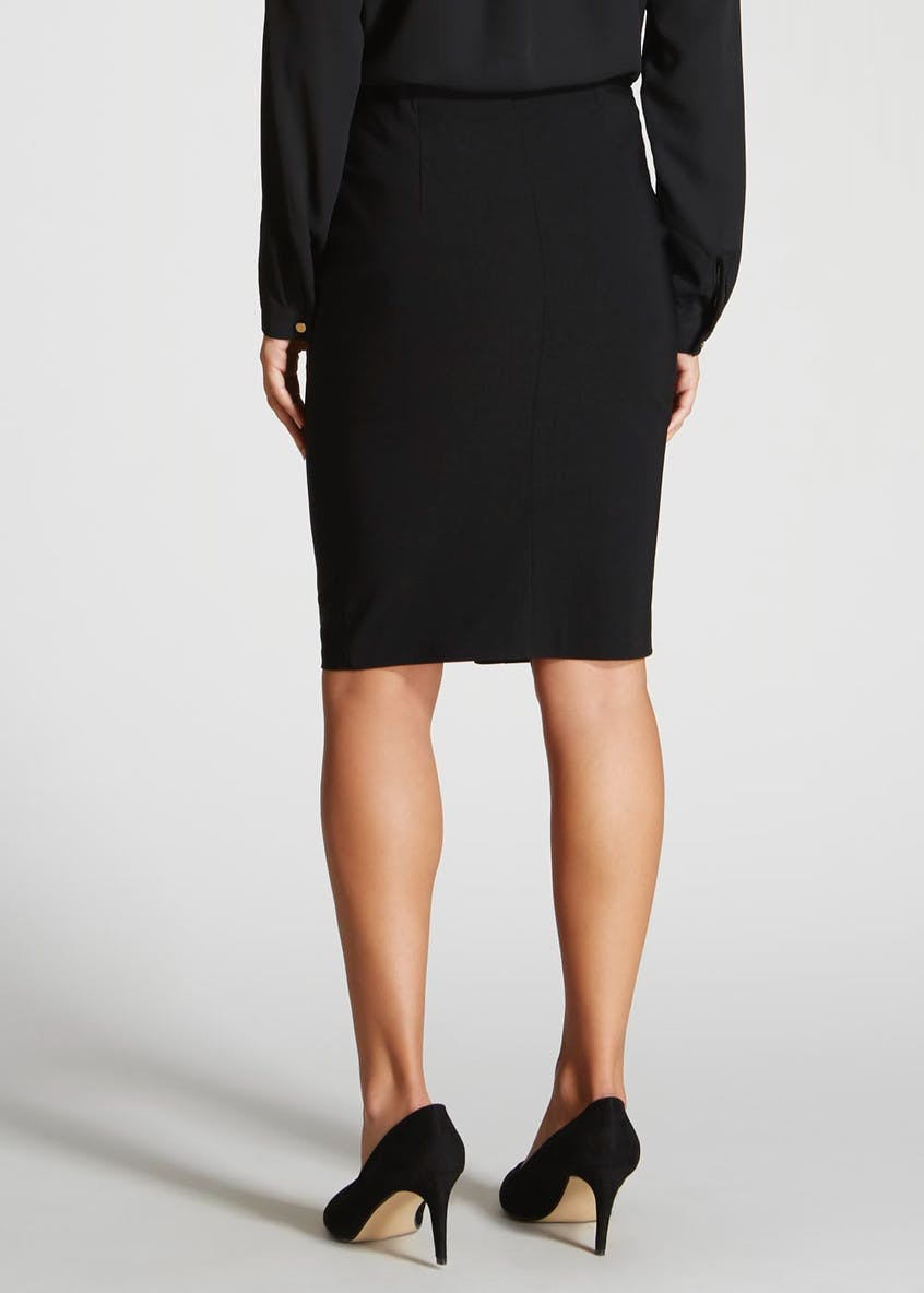 Zip Front Bengaline Pencil Skirt