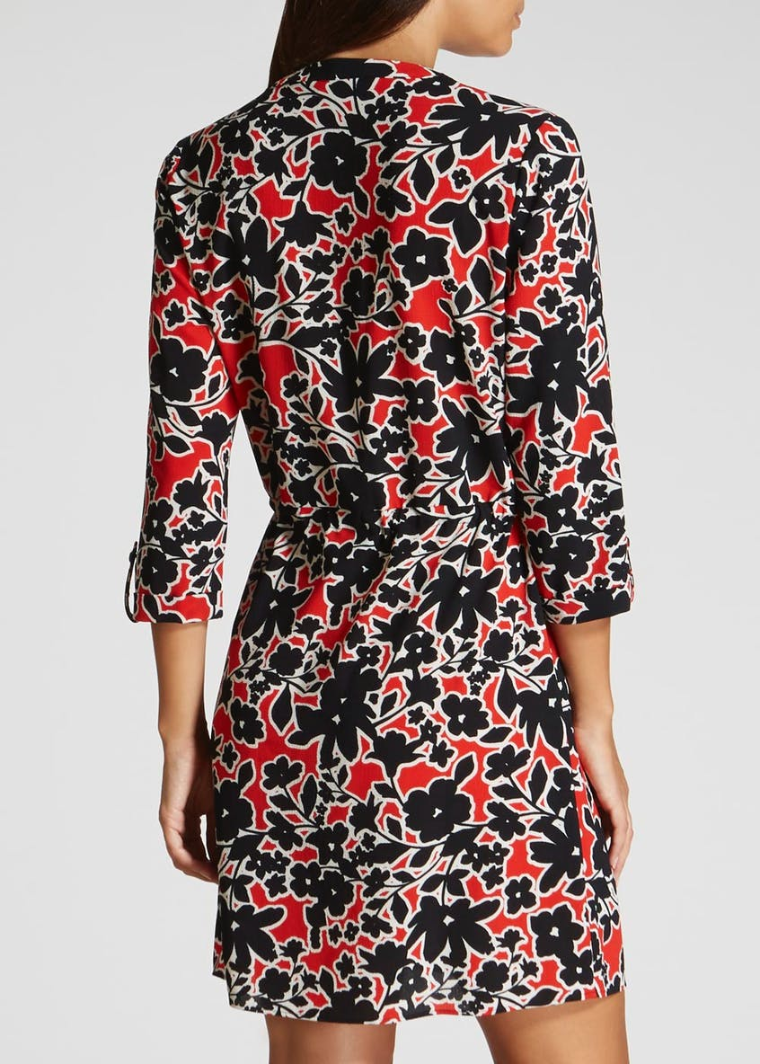 Floral Utility Dress - Red
