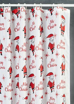Santa Christmas Shower Curtain (180cm x 180cm)