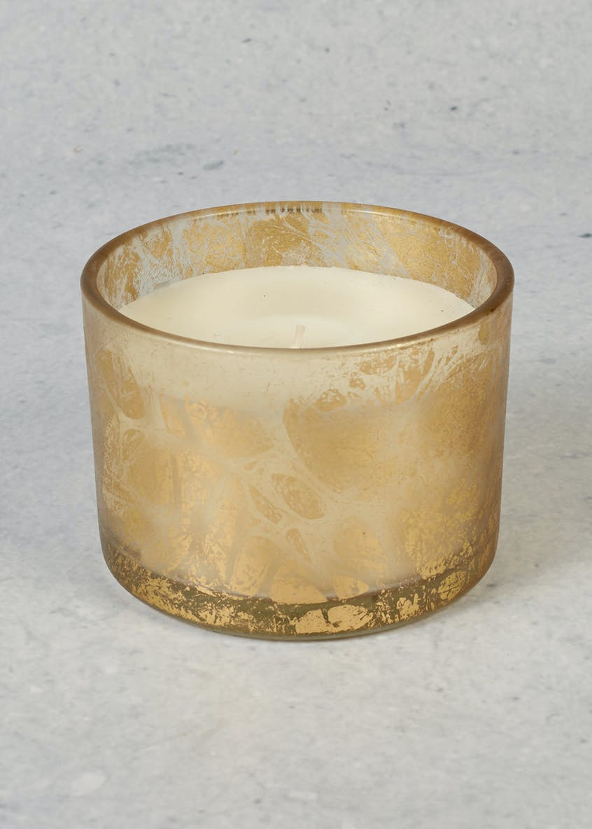 Spiced Apple Scented Metallic Christmas Candle (8cm x 1cm)
