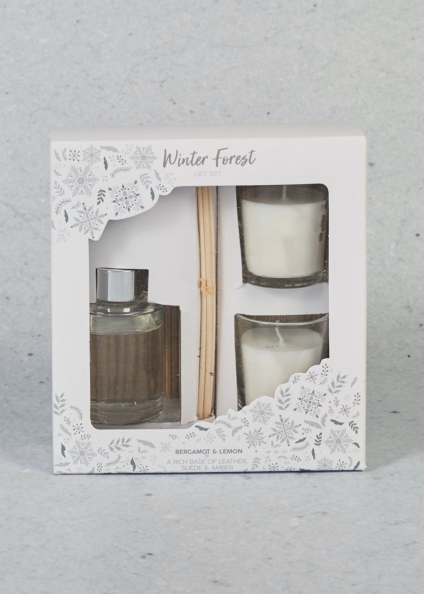 Bergamot & Lemon Scented Candle Christmas Gift Set