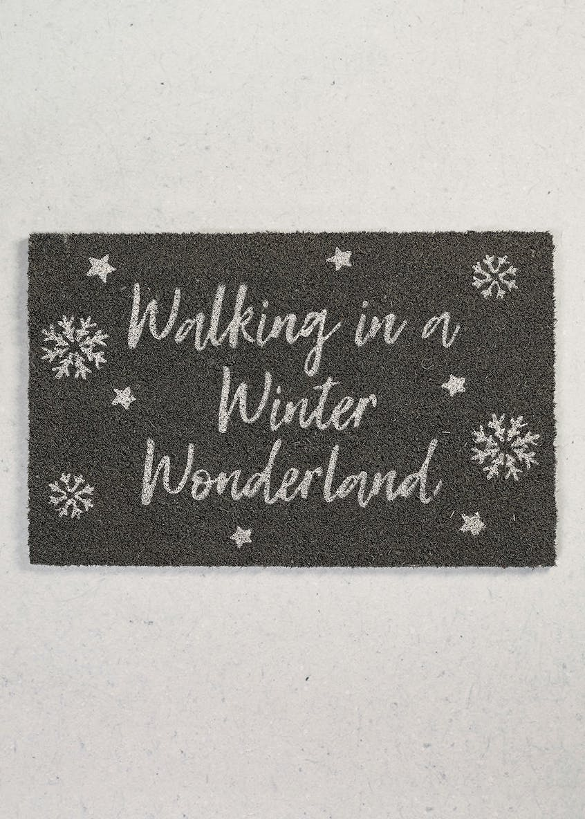 Winter Wonderland Christmas Door Mat (60cm x 40cm)