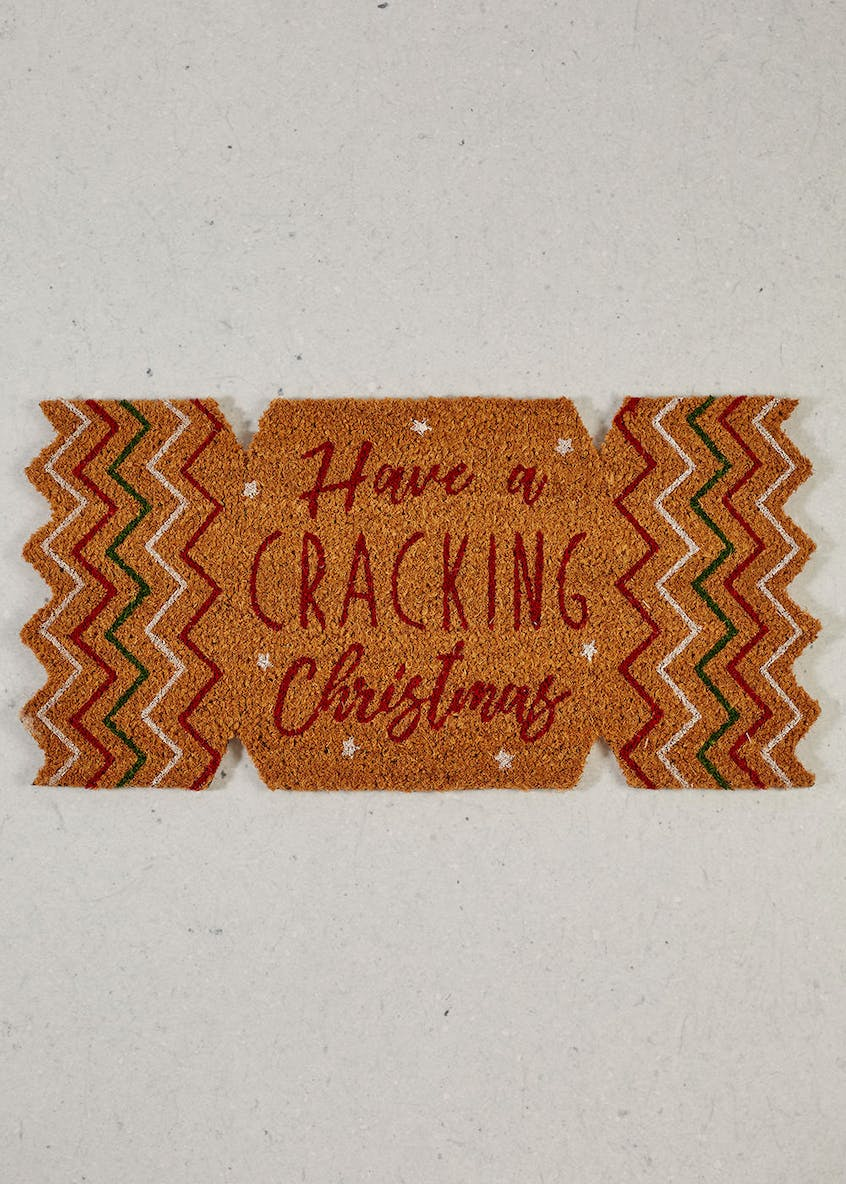 Cracker Christmas Door Mat (65cm x 32cm)