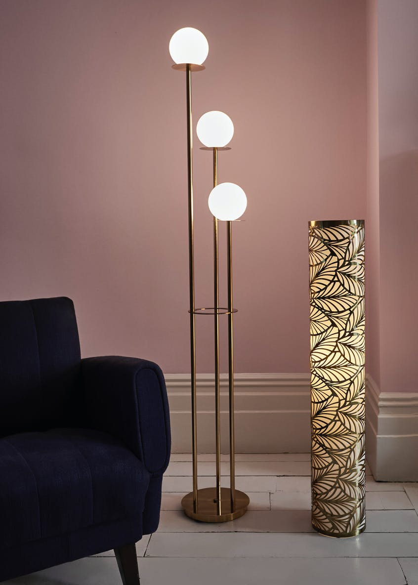 Rio Cut Out Leaf Floor Lamp (H100cm x 18cm)