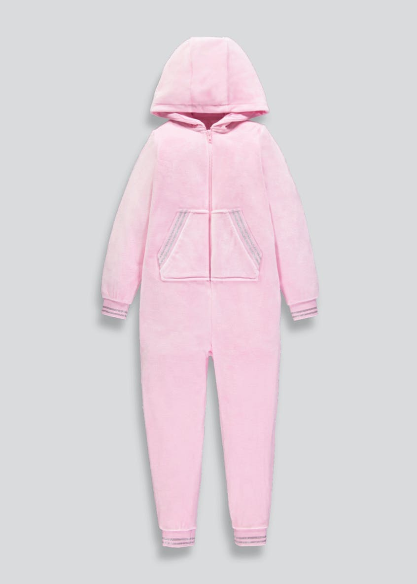 Girls Hooded Sporty Onesie (6-13yrs)
