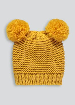 Kids Pom Pom Bear Ear Bobble Hat (6mths-4yrs)