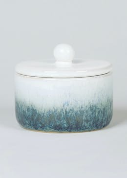 Glazed Ceramic Trinket Jar (38cm x 8cm)