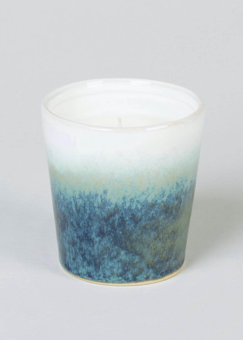 Glazed Ceramic Jar Candle (8cm x 7.5cm)