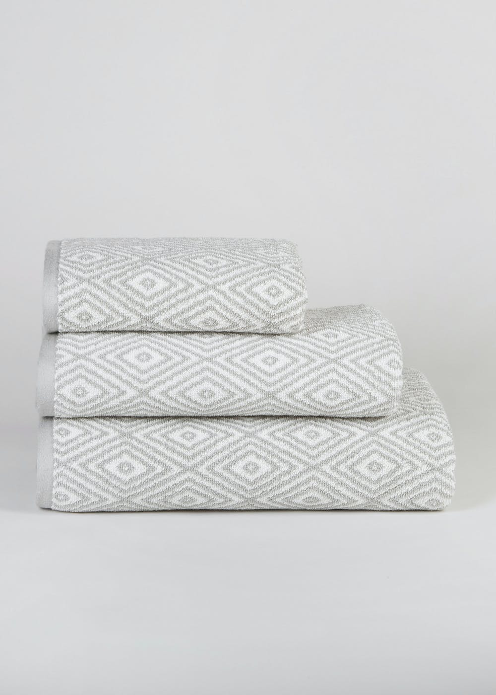 100 Percents Cotton Geometric Towels by Matalan