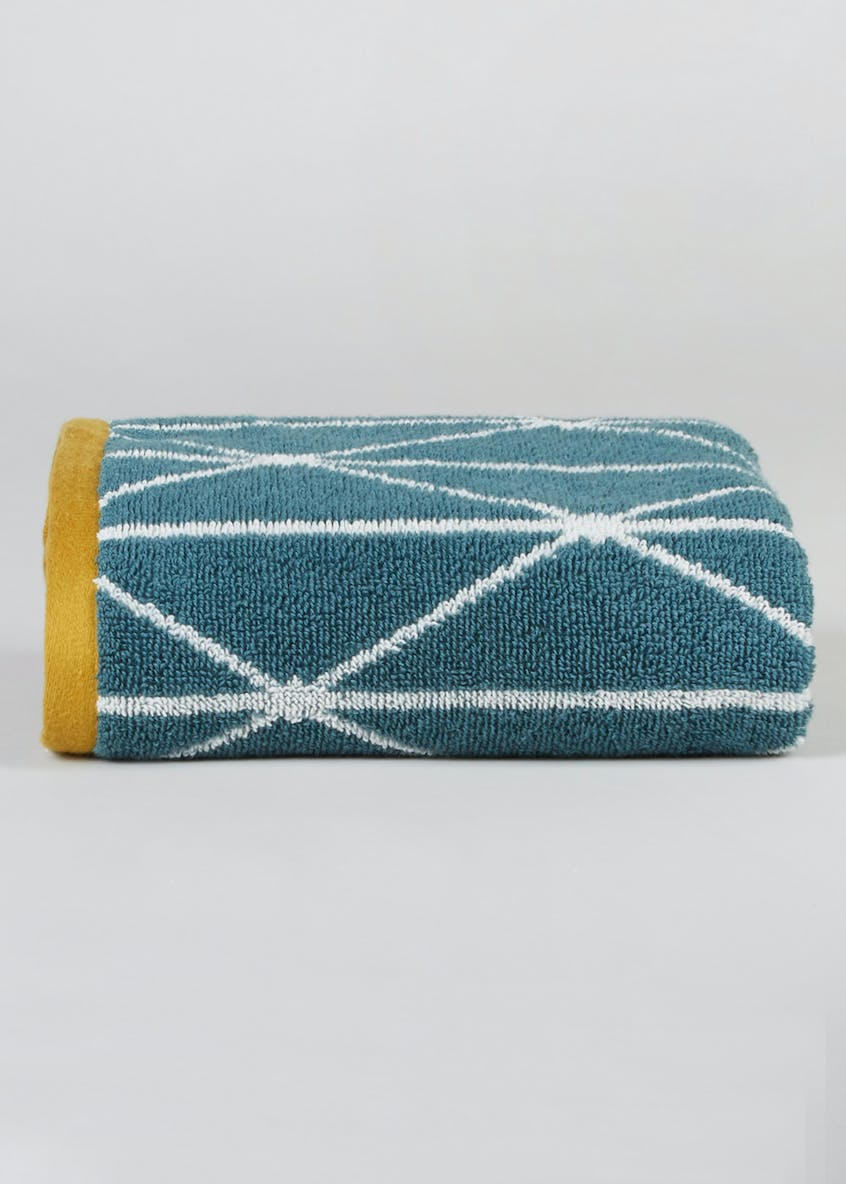 100% Cotton Geometric Hand Towel (80cm x 50cm)