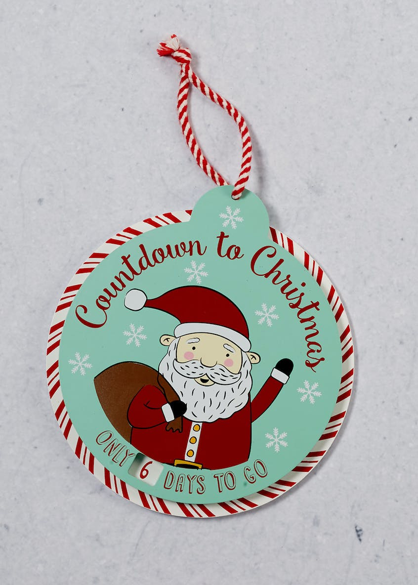 Countdown to Christmas Rotating Plaque (22cm x 20cm)