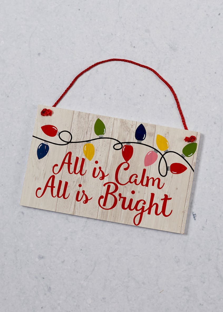 Novelty Christmas Lights Sign (22cm x 14cm)