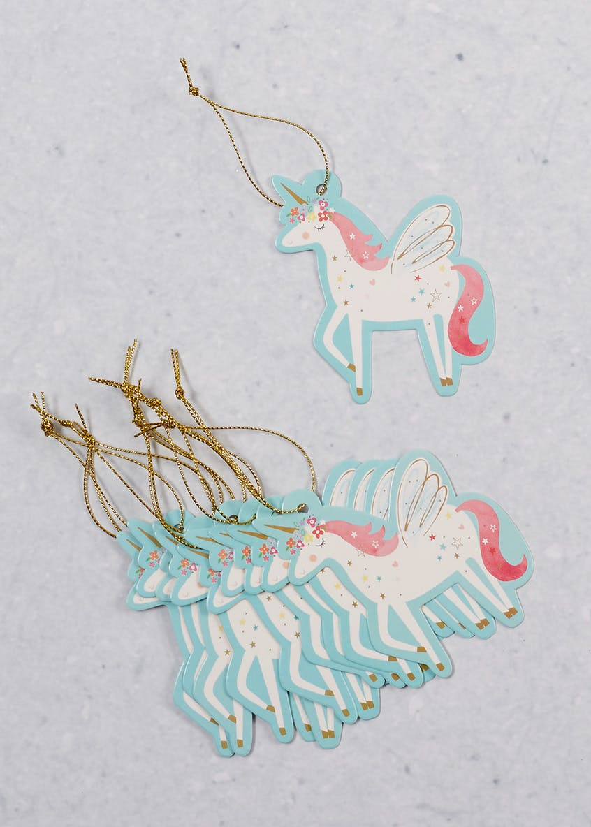10 Pack Unicorn Christmas Gift Tags