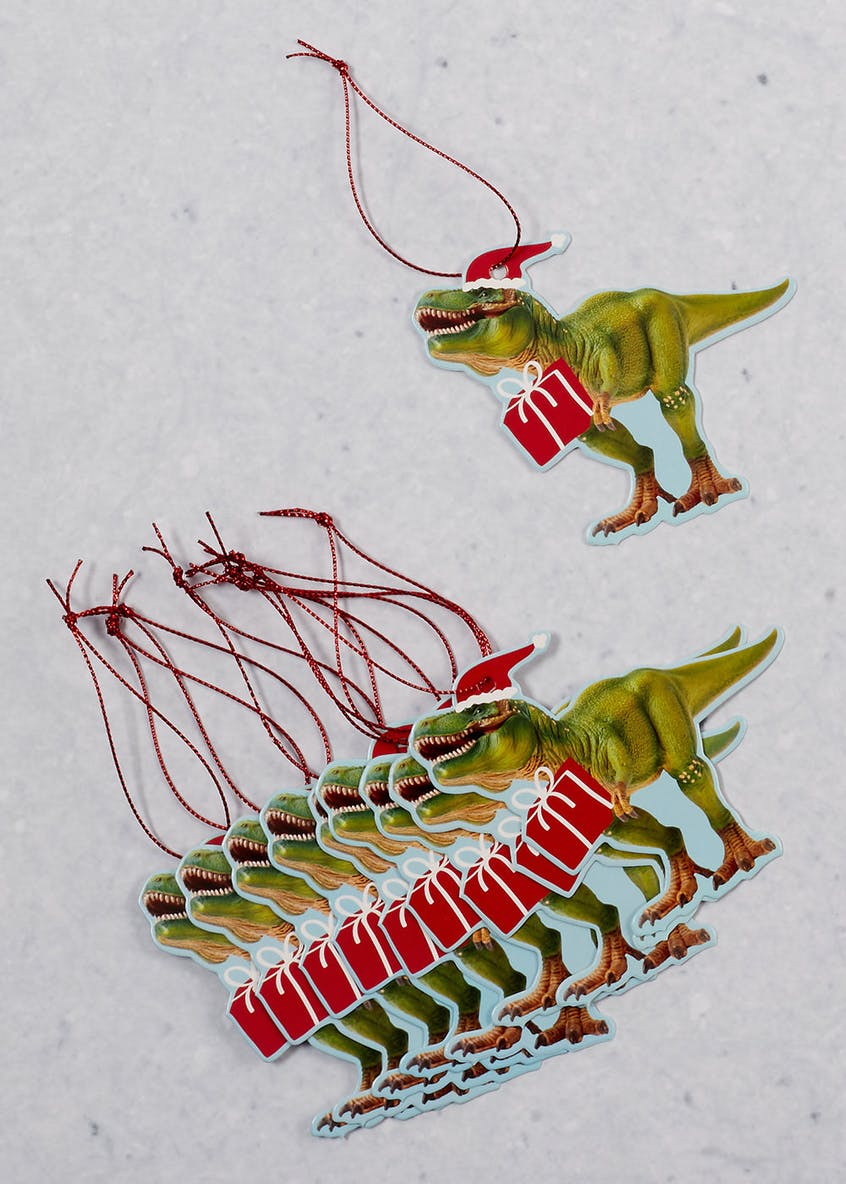 10 Pack Dinosaur Christmas Gift Tags