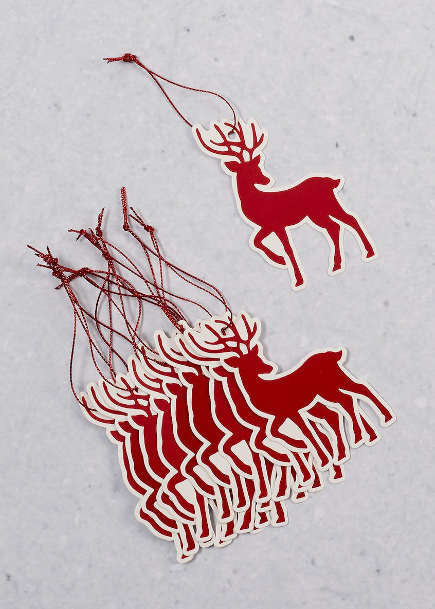 10 Pack Stag Christmas Gift Tags
