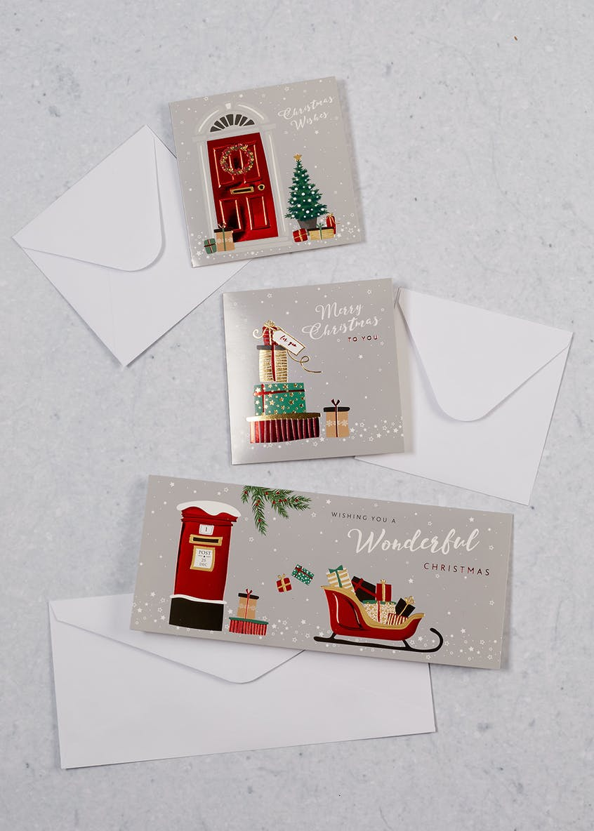 15 Pack Post Box Christmas Cards