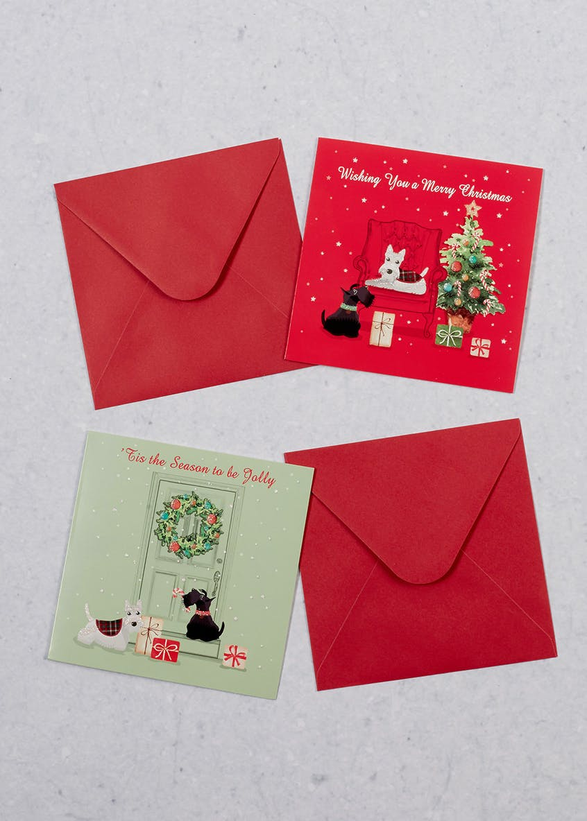 16 Pack Scottie Dog Christmas Cards