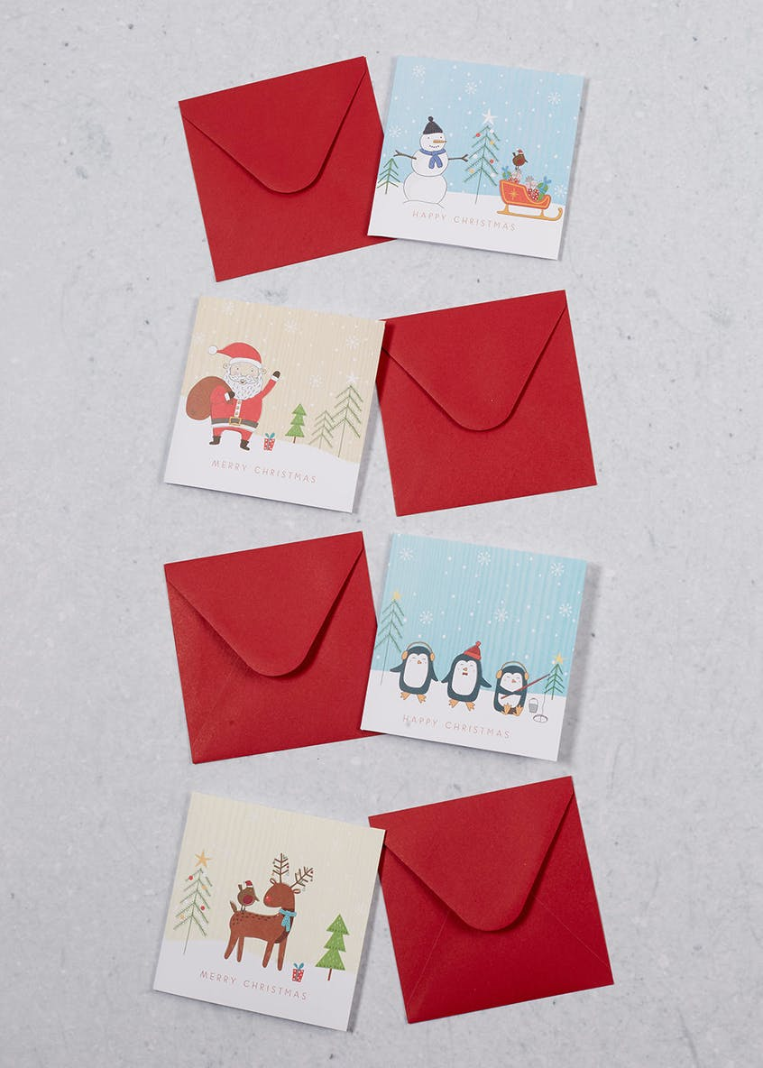 20 Pack Character Christmas Cards