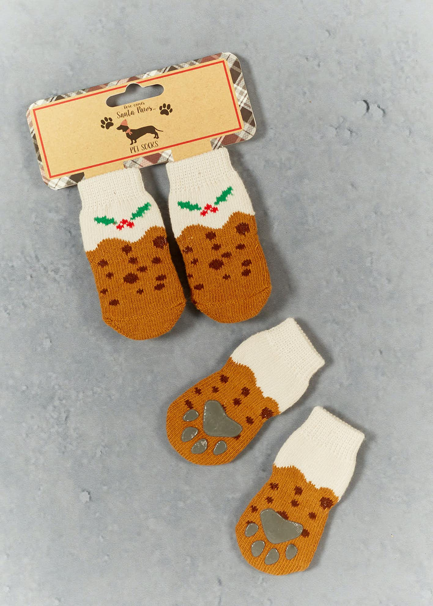 Christmas Pudding Pet Socks (9cm x 4cm)
