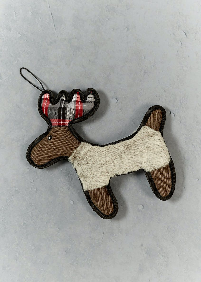 Reindeer Christmas Dog Toy (27cm x 26cm x 3cm)