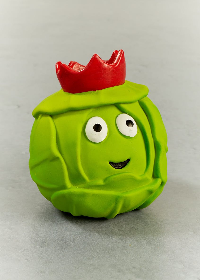 Brussels Sprout Ball Christmas Dog Toy (8cm x 8cm)