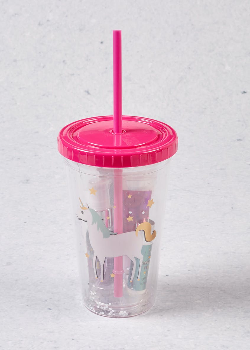 Unicorn Cup with Straw Gift Set (16cm x 7cm)