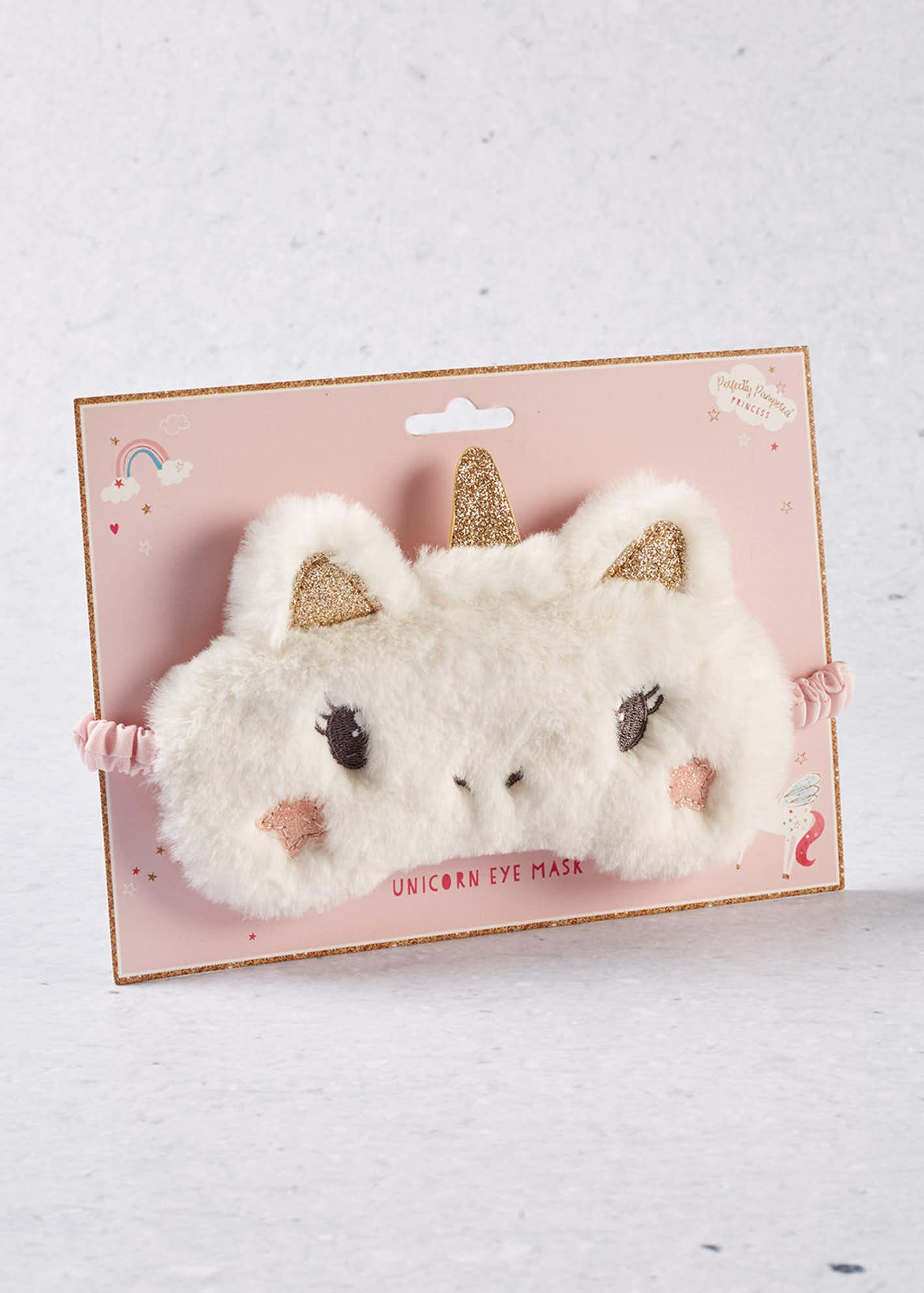 Fluffy Unicorn Eye Mask (18cm x 11cm x 1cm)