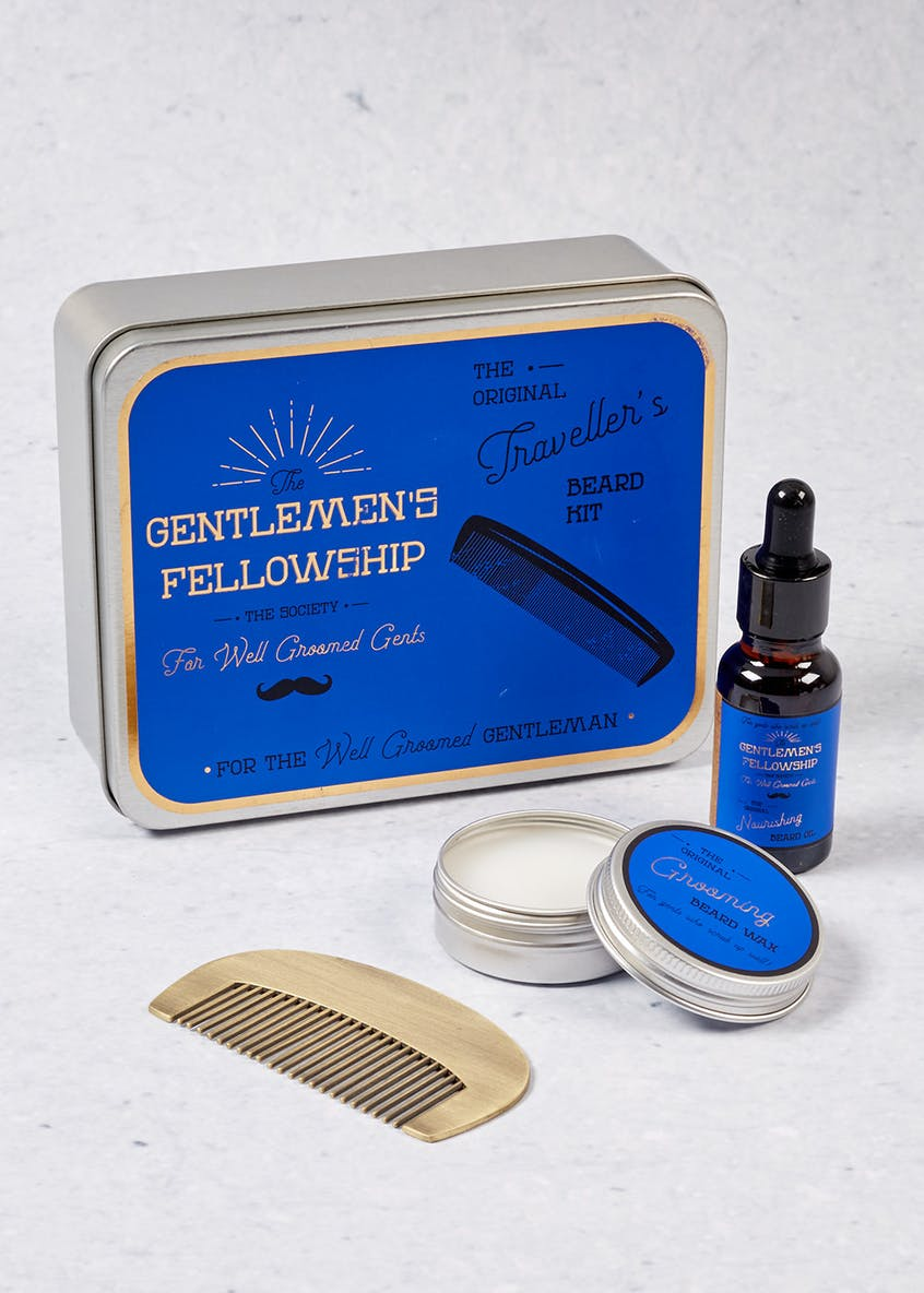Travel Comb & Beard Oil Kit (15cm x 12cm x 5cm)