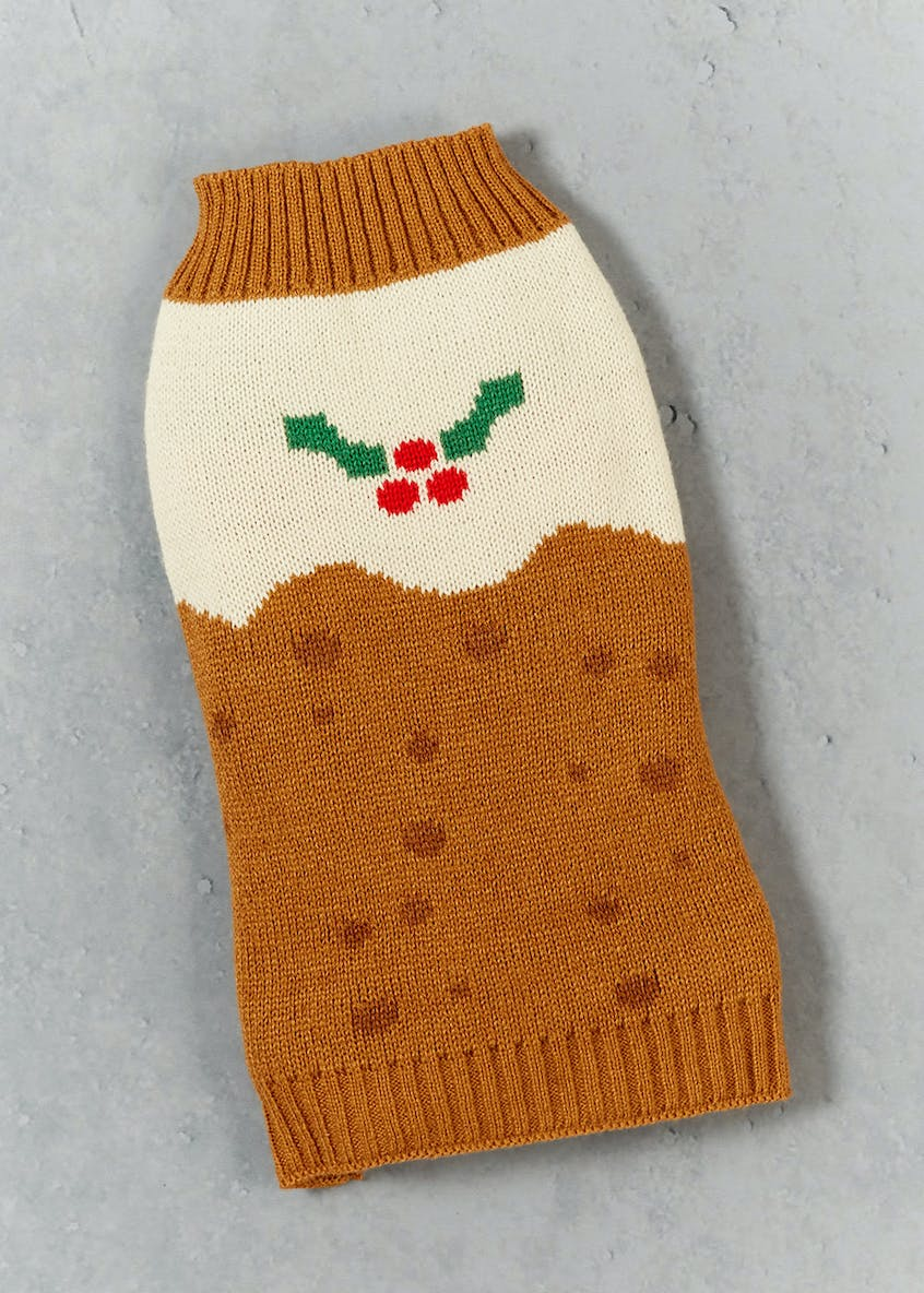 Christmas Pudding Dog Jumper