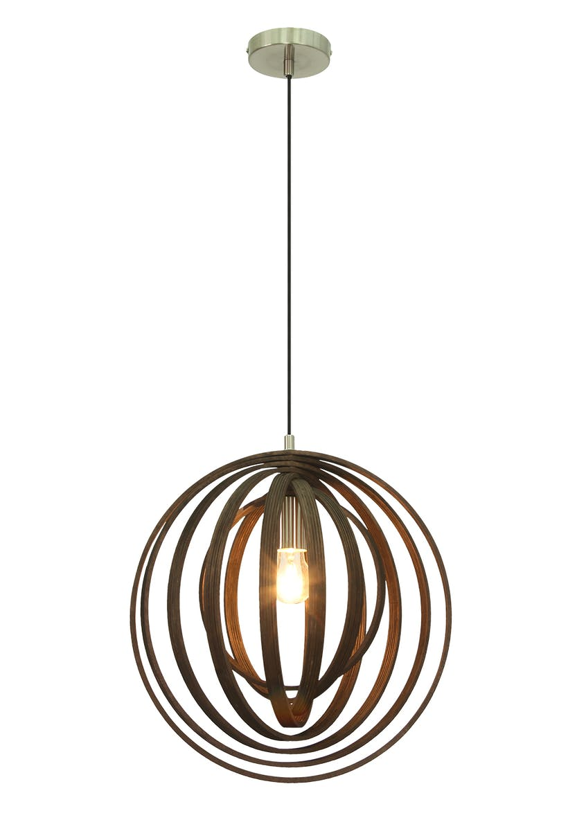 Baker Wooden Pendant Light (H100-70cm x W40cm)