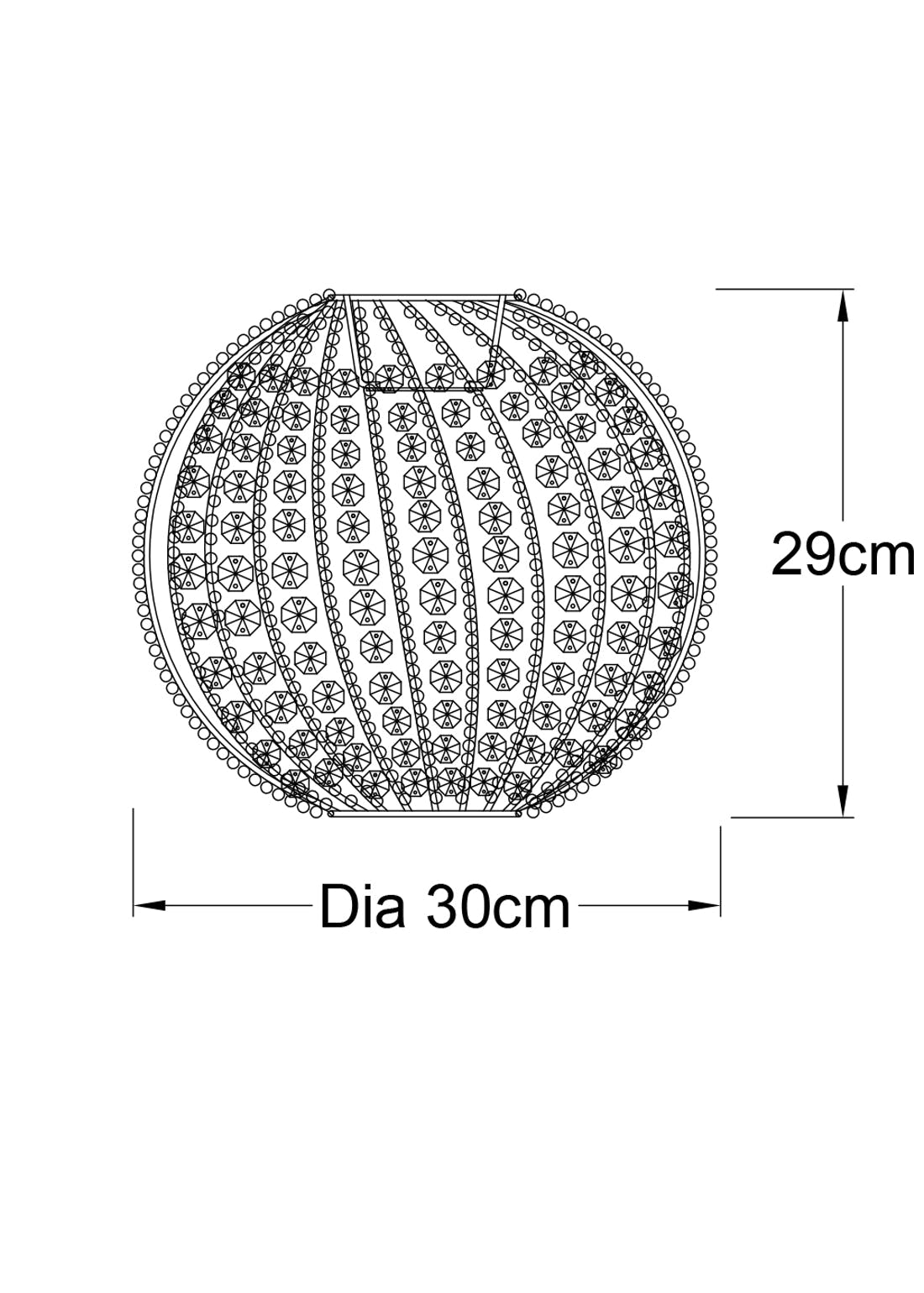Molly Easy Fit Beaded Lamp Shade (H29cm x W30cm)