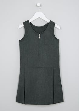 Girls 2 Pack Zip Front Pinafore (3-9yrs)