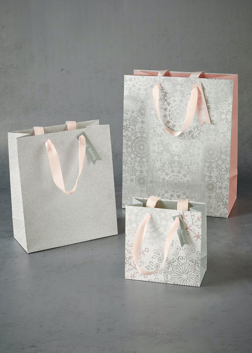 3 Pack SNO Christmas Gift Bags